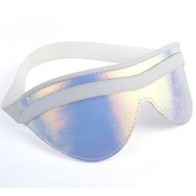 Белая маска на глаза с перламутровым блеском